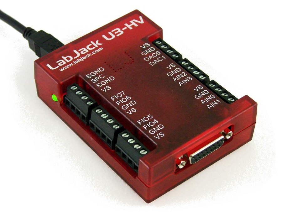 LabJack U3-HV U3-LV Low Cost USB  DAQ Device Picture