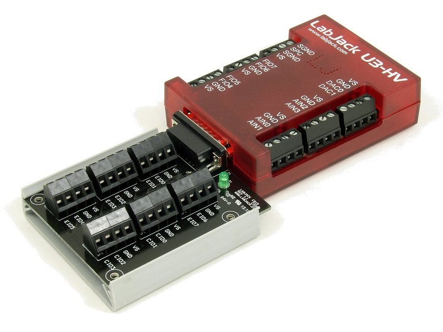 LabJack U3-HV U3-LV Low Cost USB DAQ Device with CB15 Terminal Board
