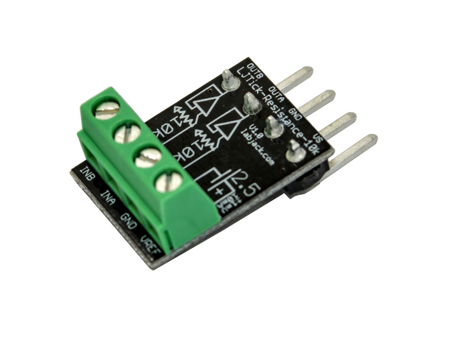 LabJack LJTick-Resistance-10k Resistor Divider Accessory Compatible with LabJack USB, Ethernet, WiFi DAQ Devices