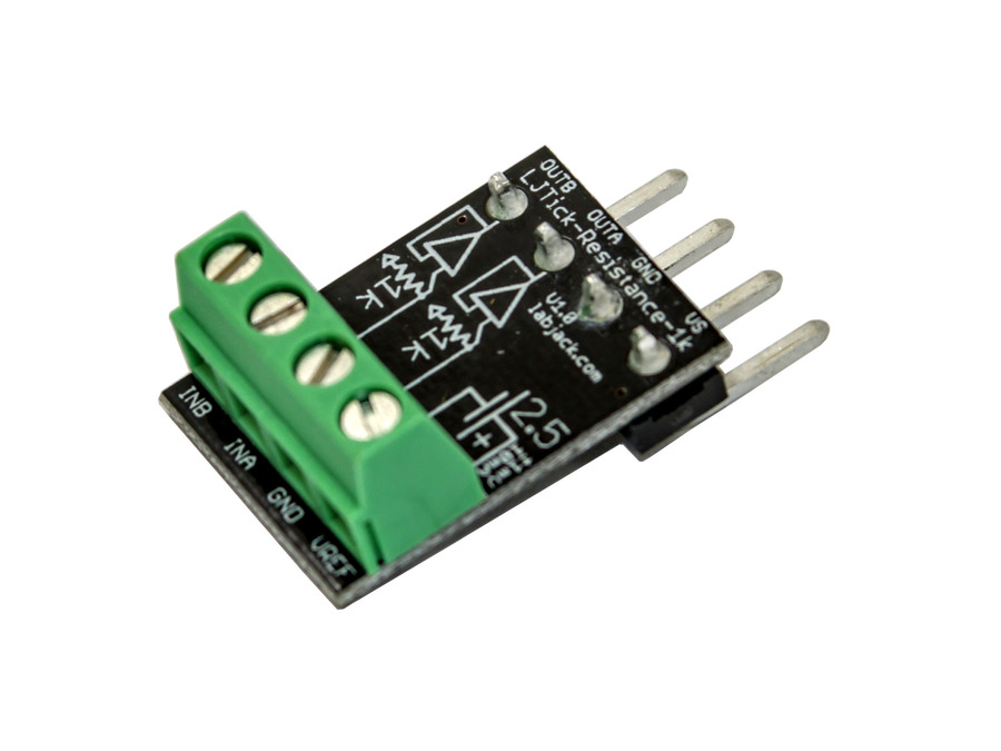 LabJack LJTick-Resistance-1k Resistor Divider Accessory Compatible with LabJack USB, Ethernet, WiFi DAQ Devices