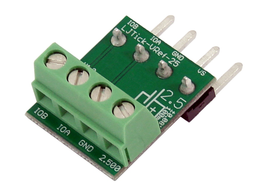 LabJack LJTick-VRef-25 2.5V Voltage Reference Accessory Compatible with LabJack USB, Ethernet, WiFi DAQ Devices