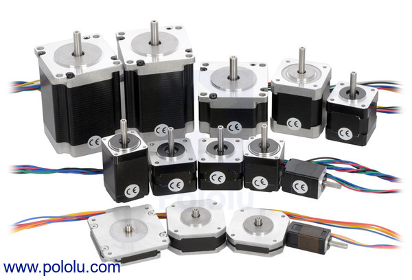 Stepper motors, like these from Pololu can be controlled with a LabJack