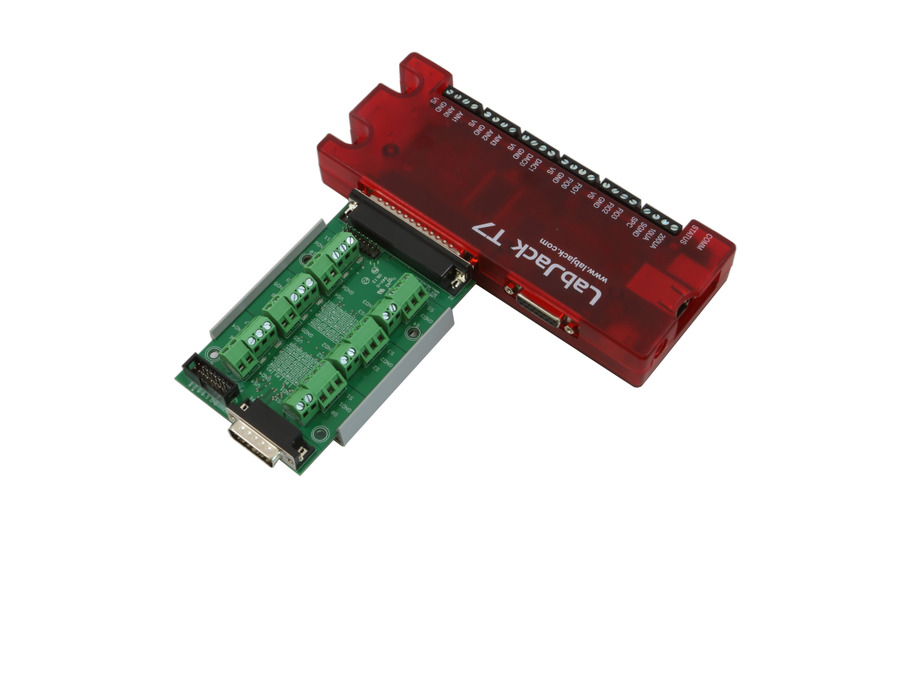LabJack PS12DC Power Switching Board Accessory Compatible with LabJack USB, Ethernet, WiFi DAQ Devices connected to T7 via DB37