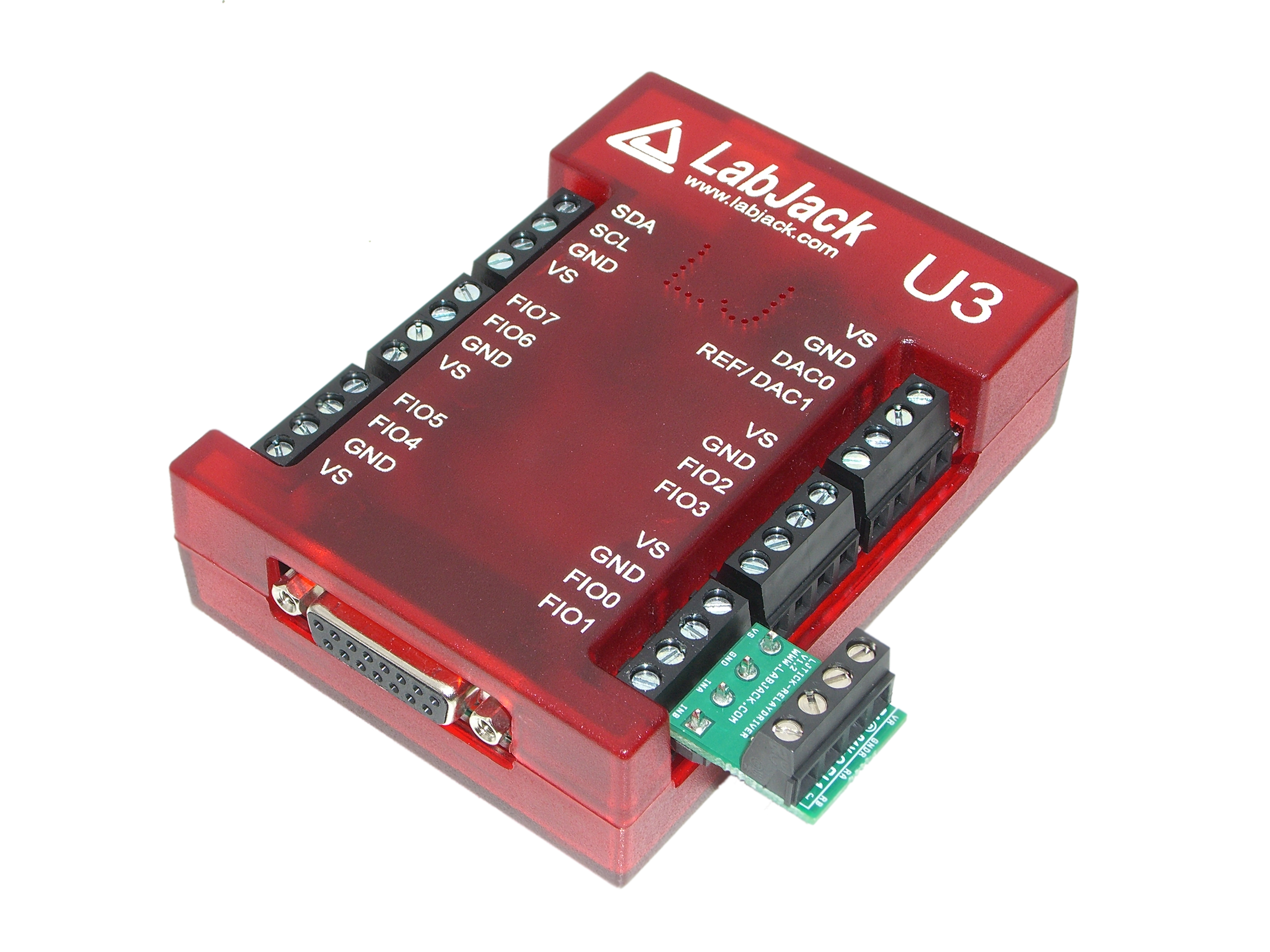 LabJack LJTick-RelayDriver Relay Controller Accessory Compatible with LabJack USB, Ethernet, WiFi DAQ Devices with U3-LV