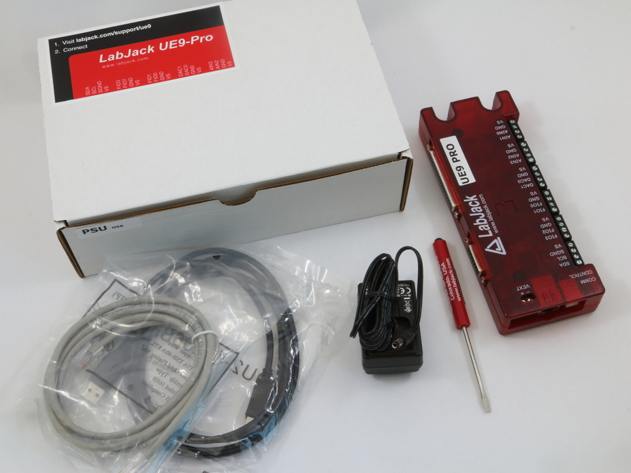 LabJack UE9-Pro Low Cost USB Ethernet DAQ Device Package Contents