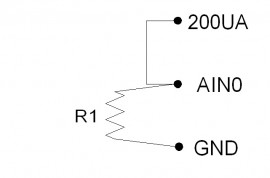 Series resistor diagram with constant current input, single resistor