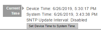 set internal device time for t-series device