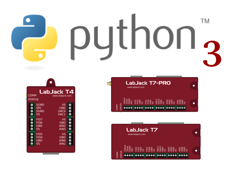 LabJack LJM Library (T4, T7, T7-Pro - Windows, Mac, Linux) Python 3.0 Support