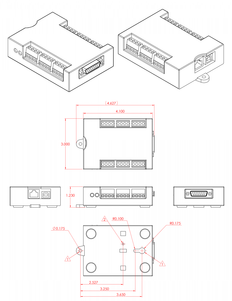 B1 T4 Drawings and CAD Models TSeries Datasheet LabJack