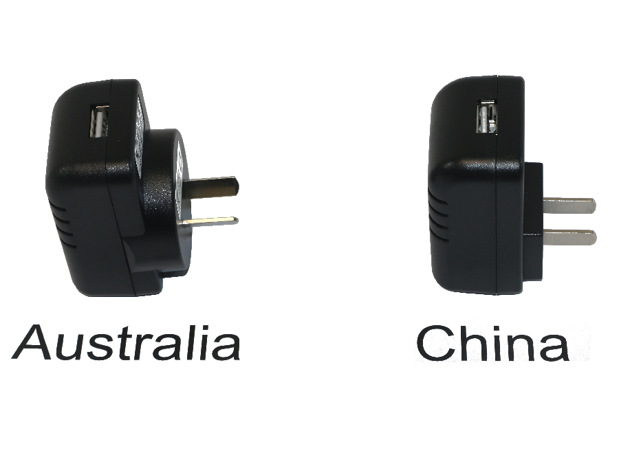 International 5V 2A USB PSU, Australia and China