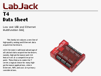 T4 USB and Ethernet DAQ Datasheet