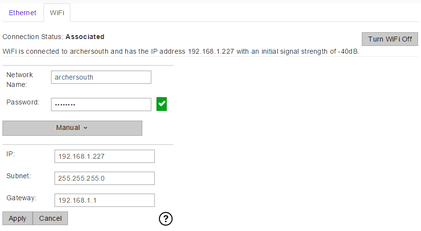 Setup WiFi and Ethernet for the T7/T4/T7-Pro (App Note
