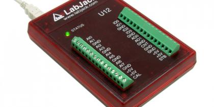 LabJack U12 Low Cost USB DAQ Device Picture